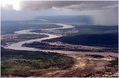 The Limpopo River in Mozambique